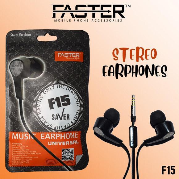 Faster F-15 Original 2in1 With Mic headset handsfree