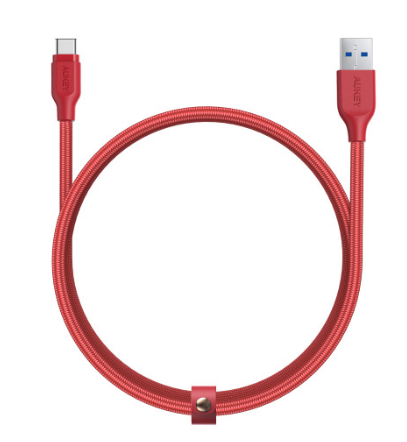 Aukey Braided Nylon USB 3.1 Gen 1 A to C Cable (3.95ft) (CB-AC1)