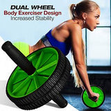 AB Wheel Total Body Exerciser Dual Wheel Design For Increased Stability | 24hours.pk
