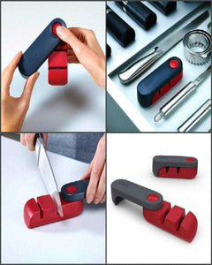 Knife Sharpener - Black & Red (0039) | 24hours.pk