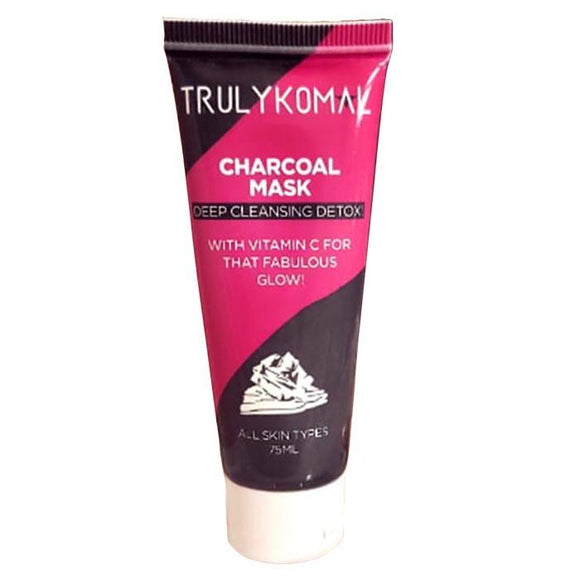 Truly Komal Charcoal Mask 3 Pcs Black 100ml