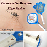 Rechargeable Mosquito Killer Racket Random Design 35grm 45cm | 24HOURS.PK