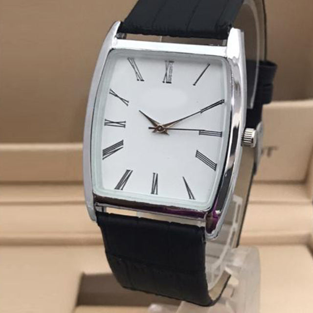 Latest Design Watch For Mens Silver White Dial with black belt | 24HOURS.PK