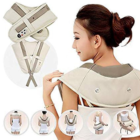 Electric Cervical Body Massager Therapy Shawls - Power Drum Massage For Neck & Shoulder | 24HOURS.PK