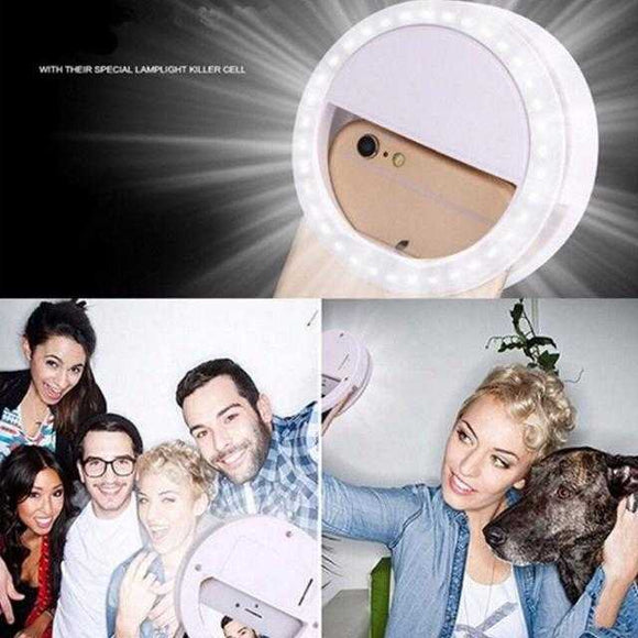 Portable Selfie Ring Light Flash Led Camera Enhancing Photography For Smartphone | 24HOURS.PK
