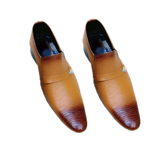 Line Design Office Shoes For Mens Brown and Chocolate Color | 24HOURS.PK