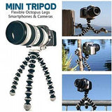 OT Mini Tripod with Flexible Octopus Legs & Adjustable Phone Mount Adapter | 24hours.pk