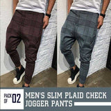 Vintage checkered casual tube pants for men, side striped stripe pants for men | 24hours.pk