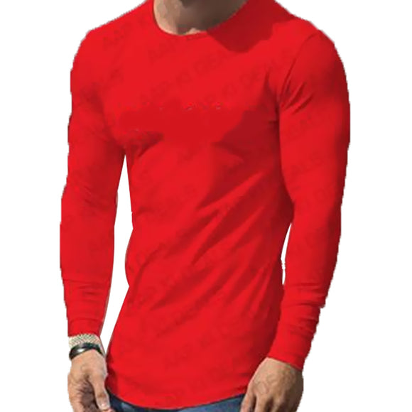 Round Neck Full Sleeves T Shirt For Men | 24hours.pk