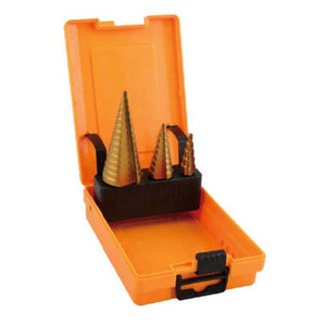 3Pcs HSS Step Drill Bit Set 501044 | 24HOURS.PK