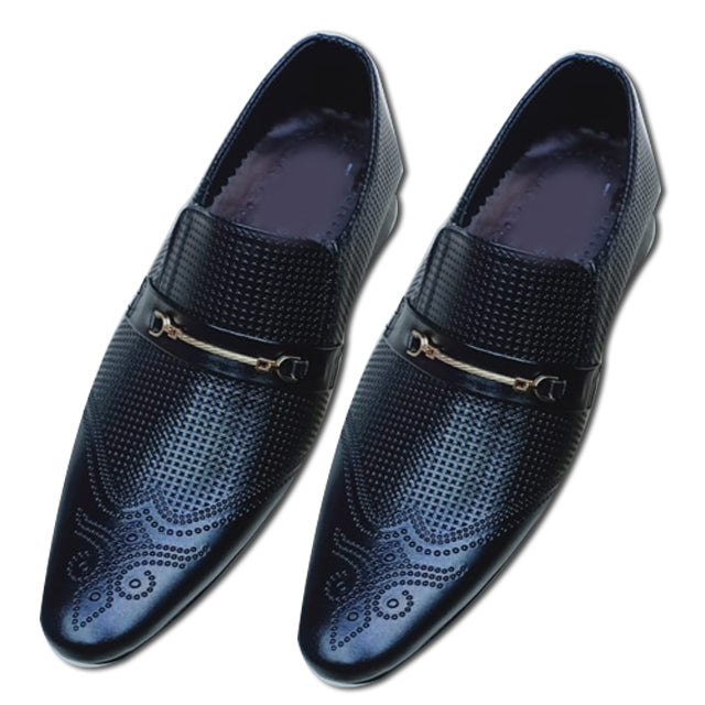 Dotted Design Shoes For Mens Black | 24HOURS.PK