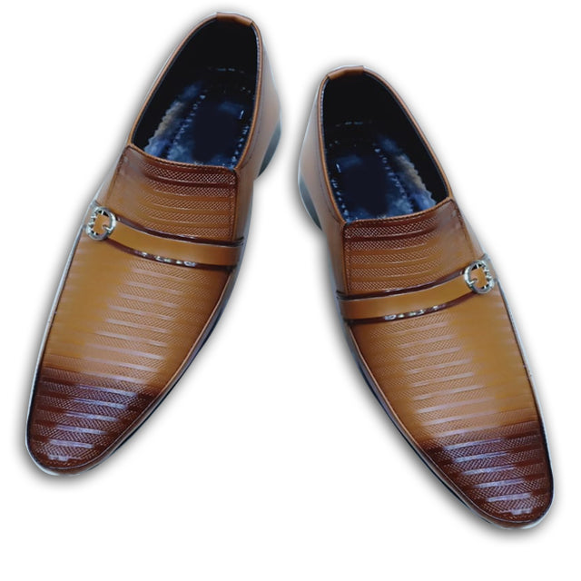 Flat Lines Style Mens Shoes Brown | 24HOURS.PK