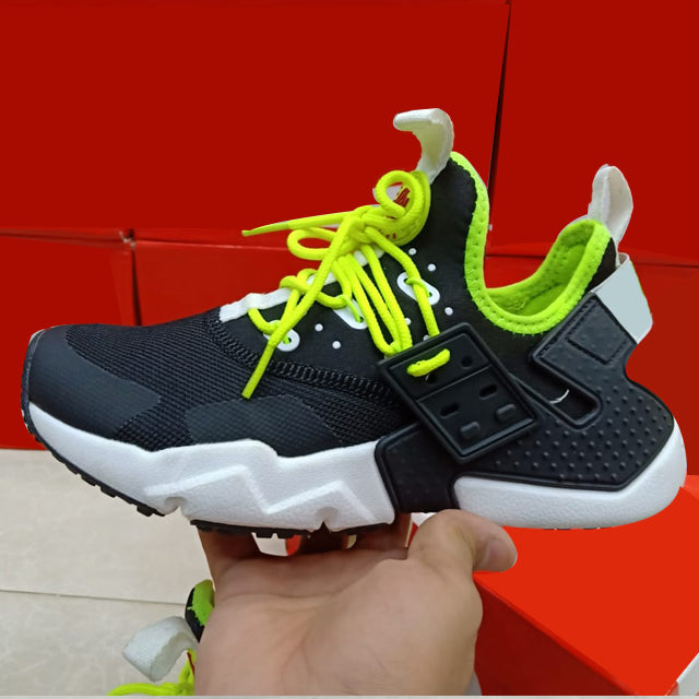 Sport Lace Shoes Green, Black and White | 24HOURS.PK