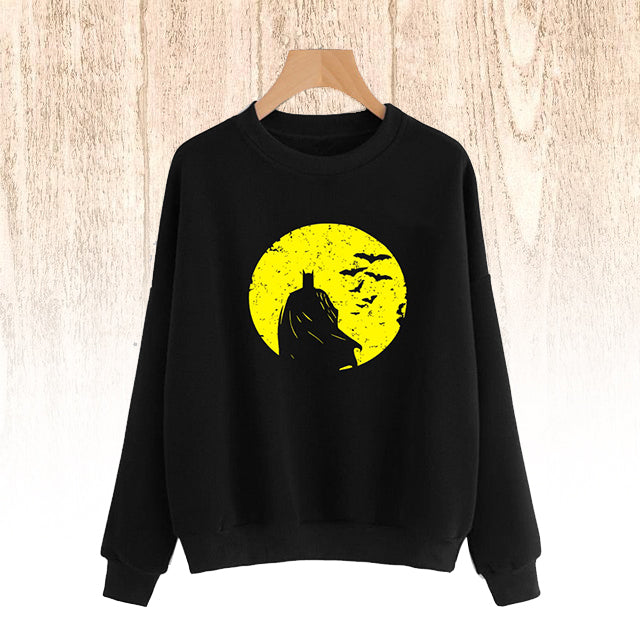 Bat Men Type Sweat Shirt Black and Yellow For Mens | 24HOURS.PK