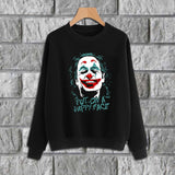 Put on a happy face joker High Quality CrewRound Neck Printed Sweatshirt | 24HOURS.PK