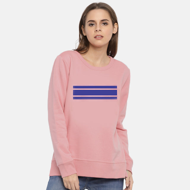 High Quality Crew Round Neck Printed Sweatshirt for Women Pink | 24HOURS.PK