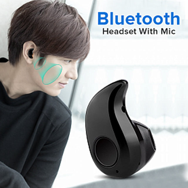 Pack of 2 Spark S530 Mini Bluetooth Headset With Mic, Black & Sunglasses Bluetooth Wireless Headsets | 24HOURS.PK