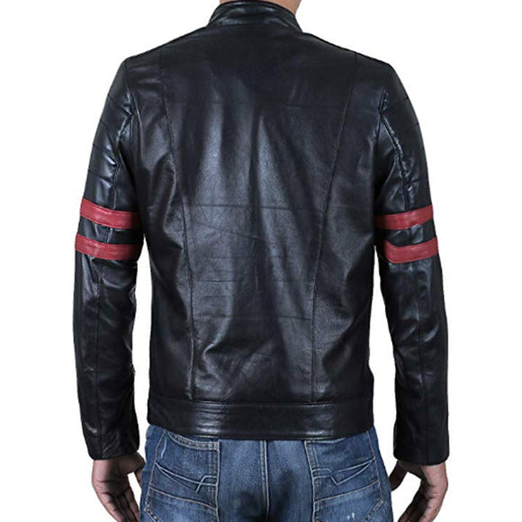 Men's Genuine Lambskin Leather Jacket - Black | 24HOURS.PK