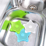 Pack of 3 Sewer Outfall Strainer Star Sink Filter PVC Drain Hair Catcher Cover Bath Kitchen Gadgets Accessories Blue | 24HOURS.PK