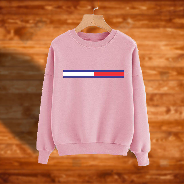 Winter Sweatshirt For Girls - Pink | 24HOURS.PK