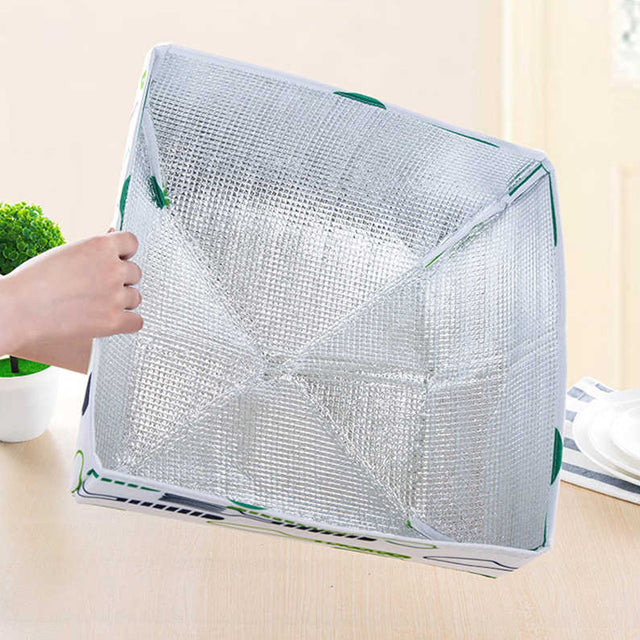 Foldable aluminum foil food cover, heat-retaining vegetable coating, anti mosquito flies, kitchen cooking tools, table cover, mesh 2pcs set | 24HOURS.PK