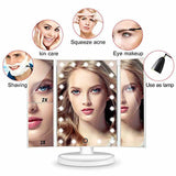 Table Mirorr with Tri Fold Makeup | 24hours.pk