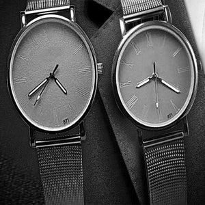 Pack of 2 Latest Watches Men's Dial Watch - Grey | 24hours.pk