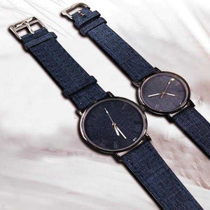 Pack of 2 New Stylish Unisex Watches -Dark Blue | 24hours.pk
