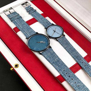Pack of 2 Stylish Unisex Watches - Blue | 24hours.pk