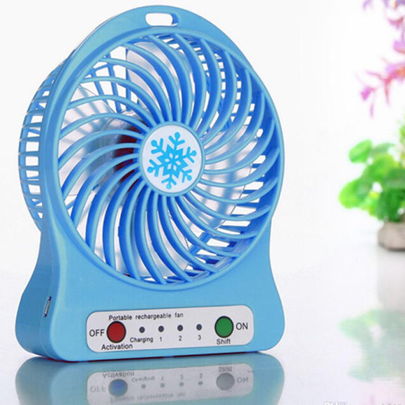 pack of 2 Beautiful Mini Portable Rechargeable Plastic USB Fan With Power Bank 0114 | 24HOURS.PK
