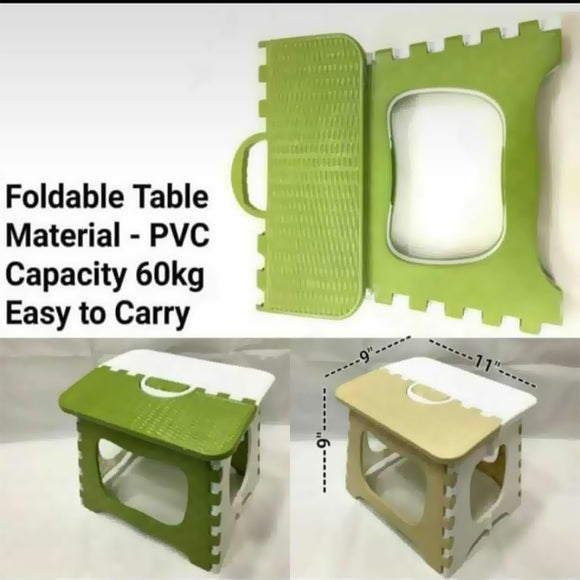 Foldable travel Pvc Capacity 60 Kg Easy to Carry Random Color | 24HOURS.PK