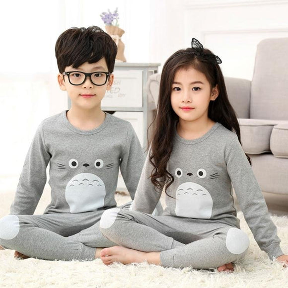 Children Set Boy's Clothing Girl's Cotton Warm Big Boy Boy Baby Cotton Pajamas | 24HOURS.PK