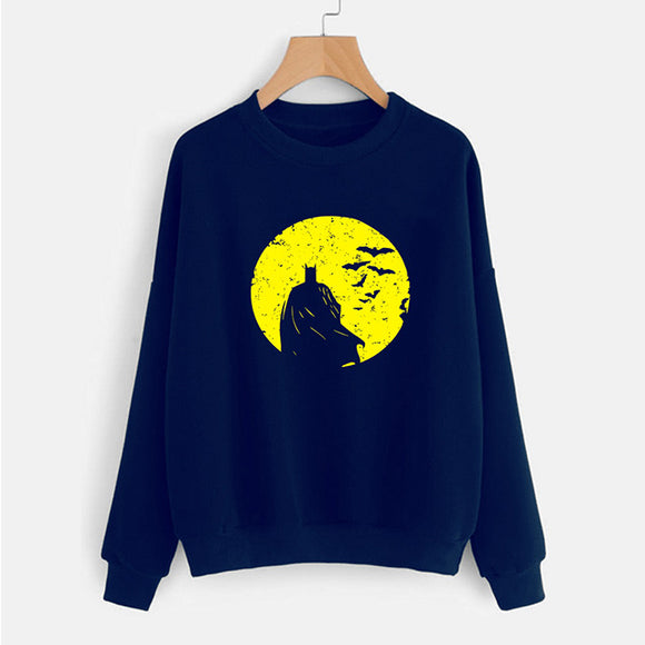 Bat Men Type Sweat Shirt Blue and Yellow For Mens | 24HOURS.PK