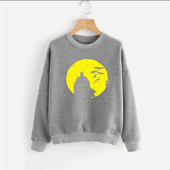 Bat Men Type Sweat Shirt Grey and Yellow For Mens | 24HOURS.PK
