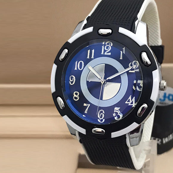 Simple Design Watch For Mens Black and White | 24HOURS.PK