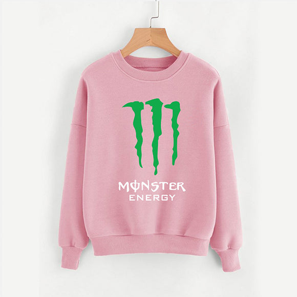 Monster Energy Printed Sweatshirt For Womens Pink | 24HOURS.PK