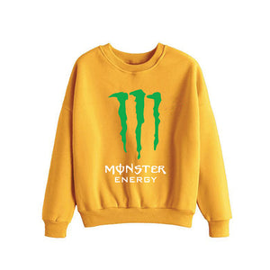 Monster Energy Printed Sweatshirt For Womens Yellow | 24HOURS.PK