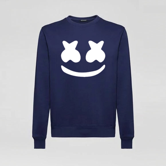 Marshmallow Printed Sweatshirt for Unisex -Blue | 24HOURS.PK