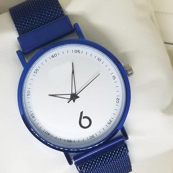 Magnet Chain Scale Style Watch For Womens Blue | 24hours.pk