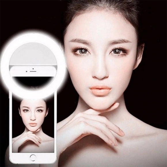 Pack of 2 Portable Selfie Ring Light Flash Led Camera Enhancing Photography For Smartphone | 24HOURS.PK