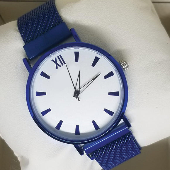 Magnet Chain Roman Watch For Womens Blue | 24hours.pk