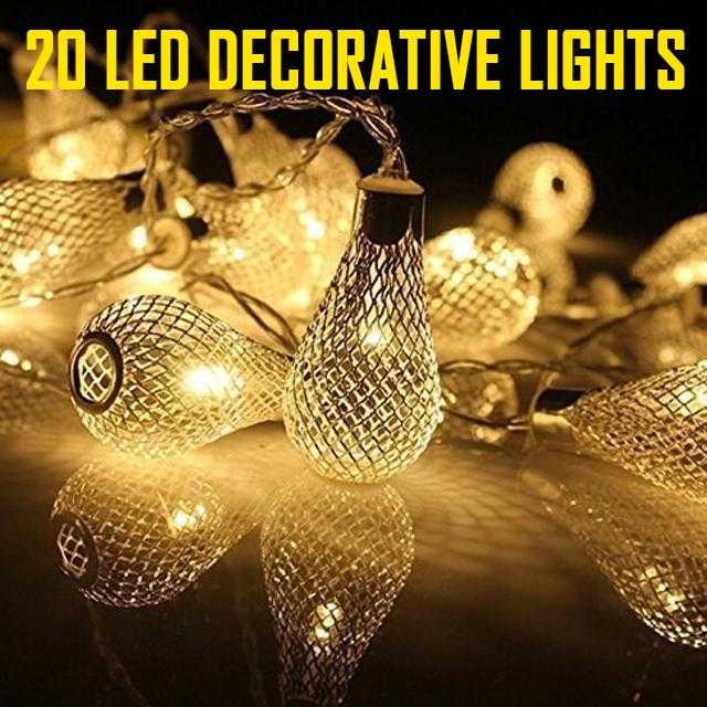 20 led fairy lights Random Design (3 Meter) | 24hours.pk