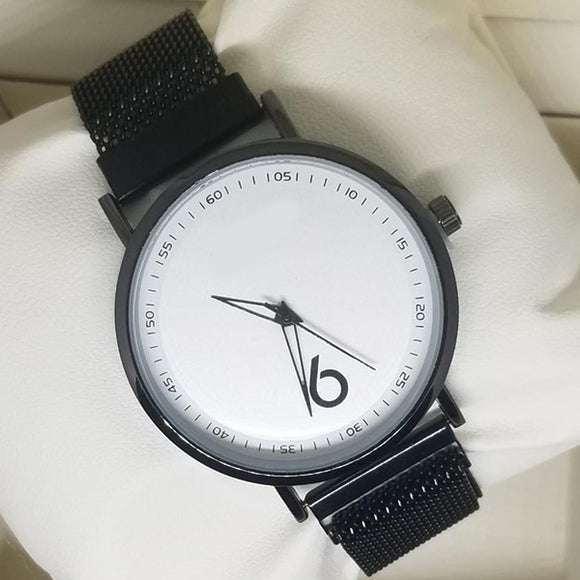 Magnet Chain Scale Style Watch For Womens Black | 24hours.pk