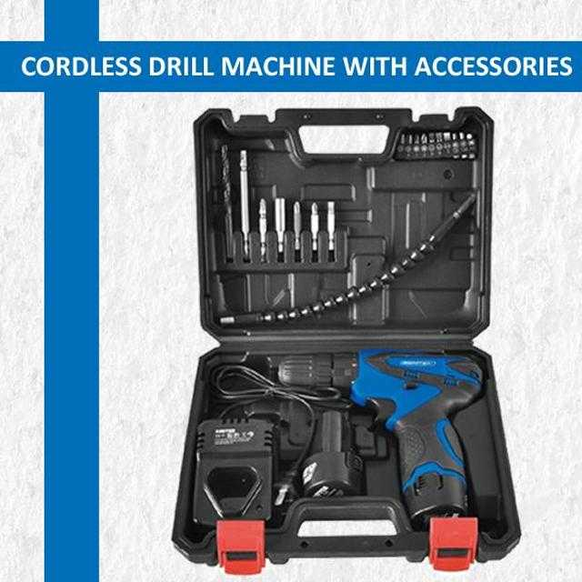 SEMPROX SCD1203 12V CORDLESS BATTERY DRILL SET WITH ACCESSORIES | 24HOURS.PK