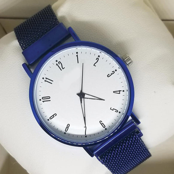 Magnet Chain Watch For Womens Blue | 24hours.pk