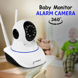 Premax Wi-Fi 360-Degree 720P, Baby Monitor IP Alarm Camera, Supports TF Card Storage, Motion Detection, Online Remote Viewing | 24HOURS.PK
