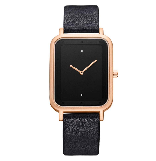 Rectangle Shaped Creative Analog Wrist Watch For Unisex Black & Golden 853354 | Abdul Basit Janjee