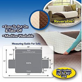 Couch Coat - Convenient Reversible Sofa Cover | 24hours.pk