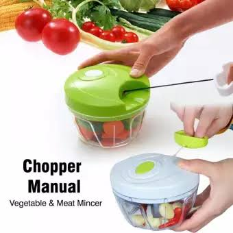 Mini Speedy Chopper Manual Hand Pull Vegetable & Meat Mincer 0110 | 24HOURS.PK