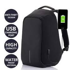 Anti-Theft Backpack 18 Inch, TF-55, Black | 24HOURS.PK